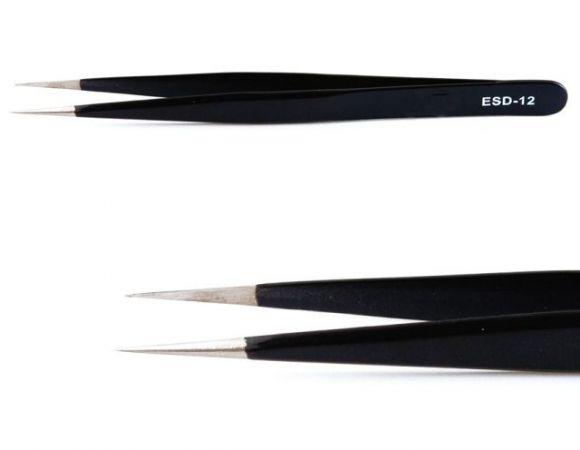 Tweezers Straight (Black)