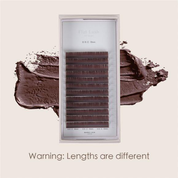 Flat Lash Brown 0.15mm (World Standard Length)